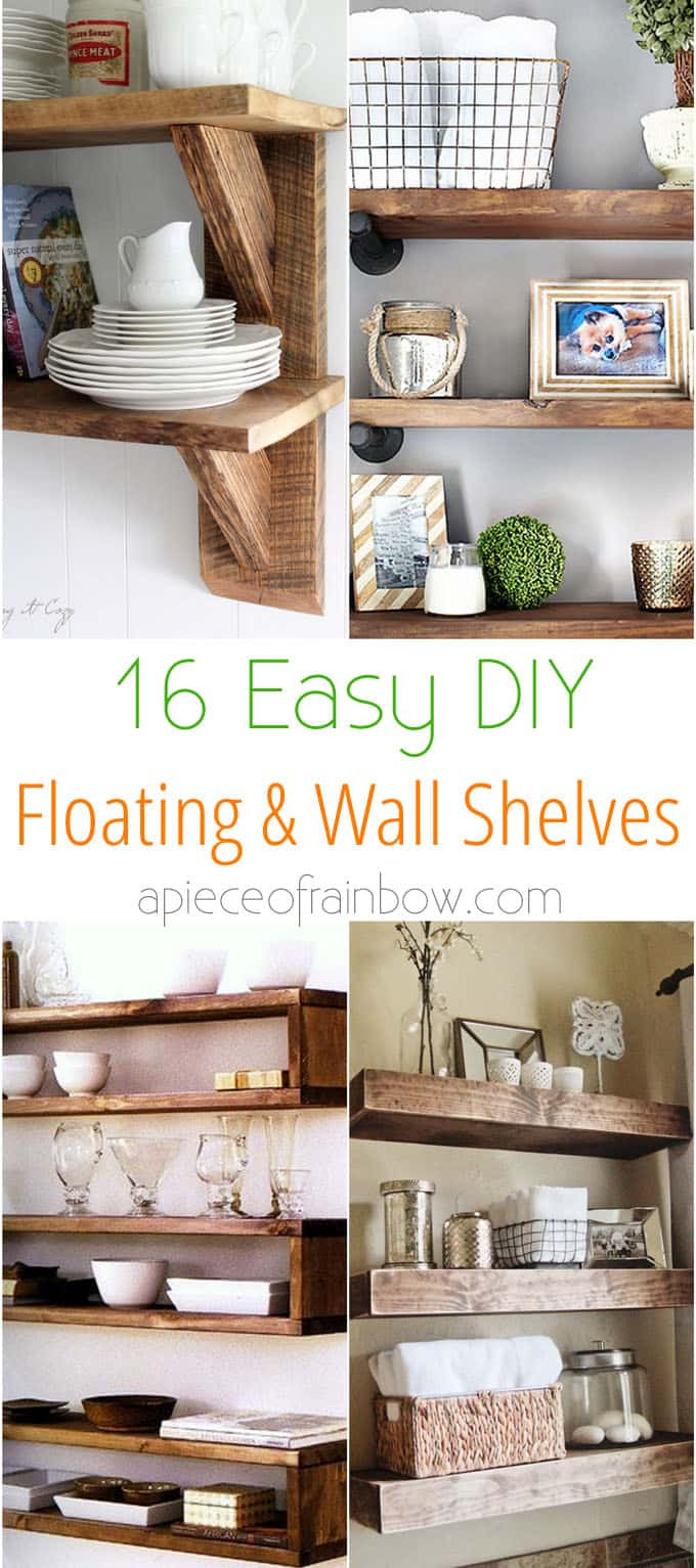 Best ideas about DIY Floating Wall Shelf . Save or Pin 16 Easy and Stylish DIY Floating Shelves & Wall Shelves Now.