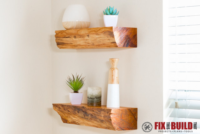 Best ideas about DIY Floating Wall Shelf . Save or Pin Turn Firewood into DIY Floating Shelves Now.
