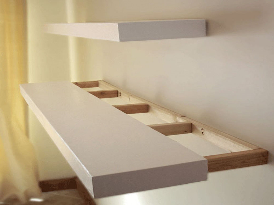Best ideas about DIY Floating Wall Shelf . Save or Pin Make your own bookcase build floating shelves diy built Now.