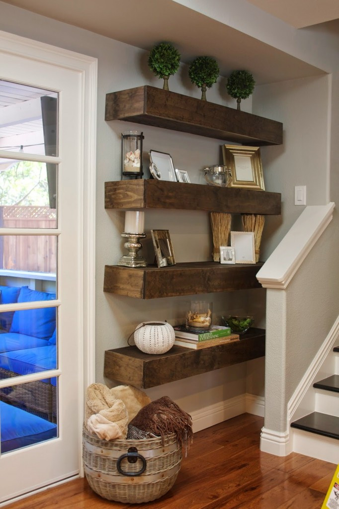 Best ideas about DIY Floating Wall Shelf . Save or Pin Simple DIY Floating Shelves Tutorial Decor Ideas Now.