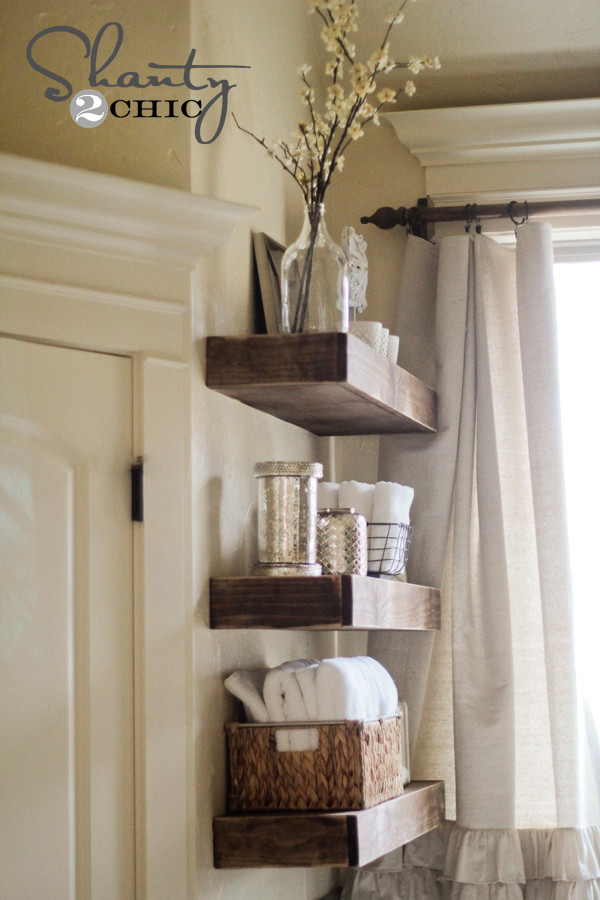 Best ideas about DIY Floating Wall Shelf . Save or Pin Easy DIY Floating Shelves Floating Shelf Tutorial Video Now.