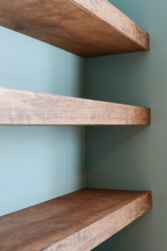 Best ideas about DIY Floating Wall Shelves . Save or Pin DIY Floating Wood Shelves Now.