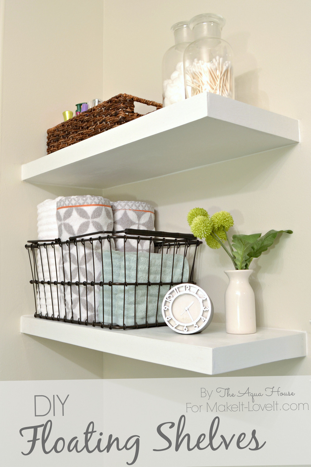 Best ideas about DIY Floating Wall Shelves . Save or Pin DIY Floating Shelves a great storage solution Now.