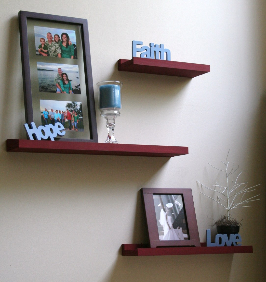Best ideas about DIY Floating Wall Shelves . Save or Pin The Cupcake Cuppy DIY Floating Shelves Now.