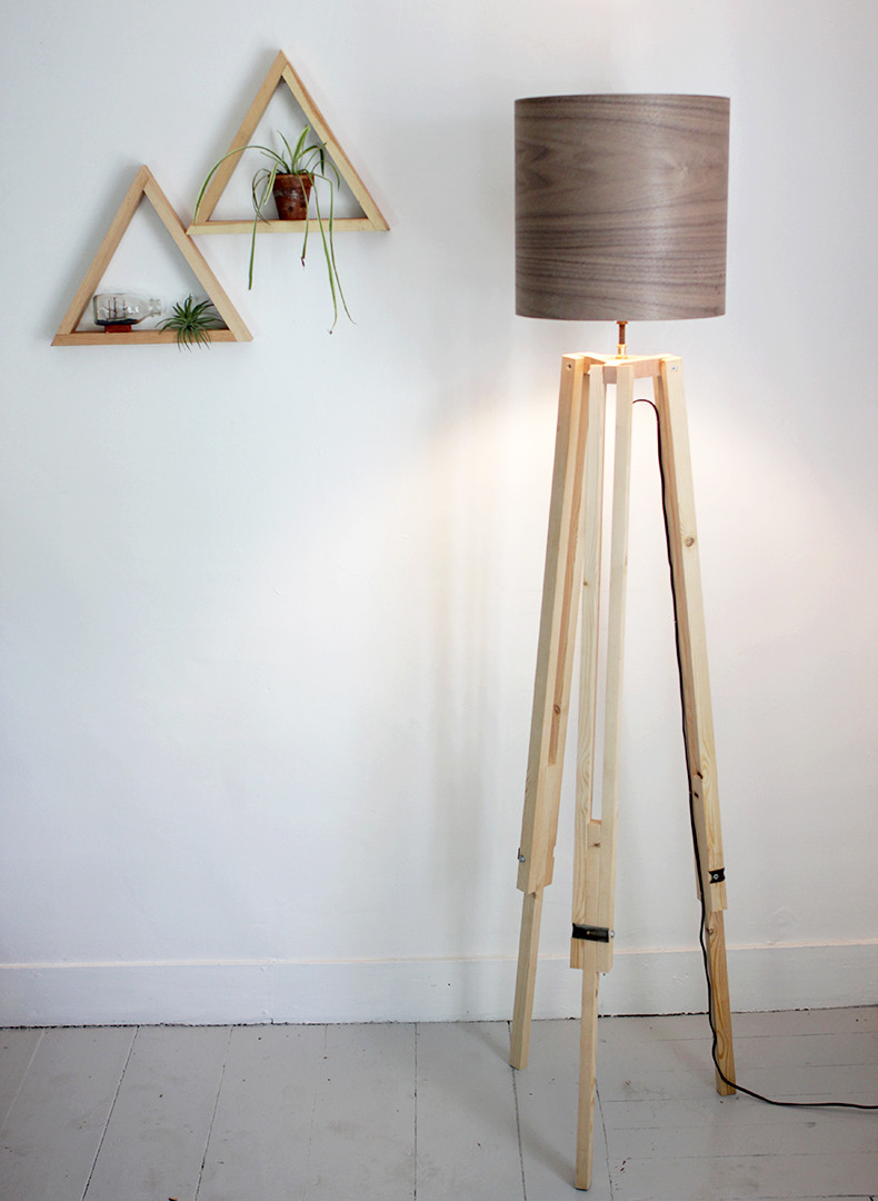 Best ideas about DIY Floor Lamp . Save or Pin DIY Tripod Floor Lamp The Merrythought Now.