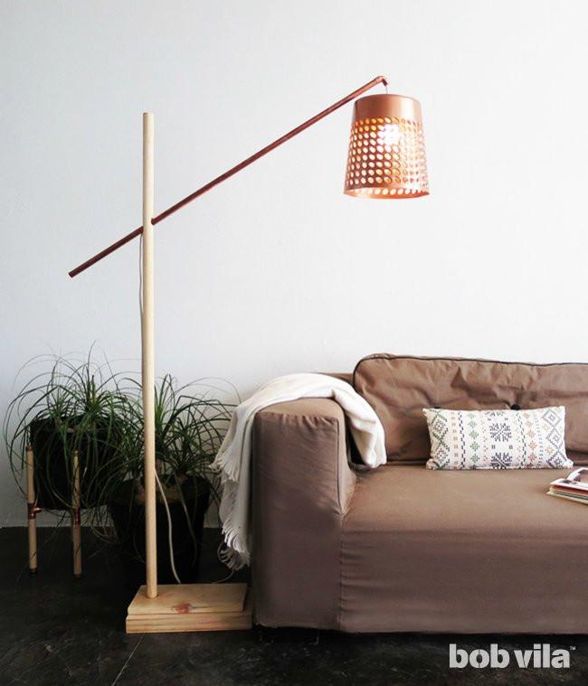Best ideas about DIY Floor Lamp . Save or Pin DIY Floor Lamp DIY Lite Bob Vila Now.