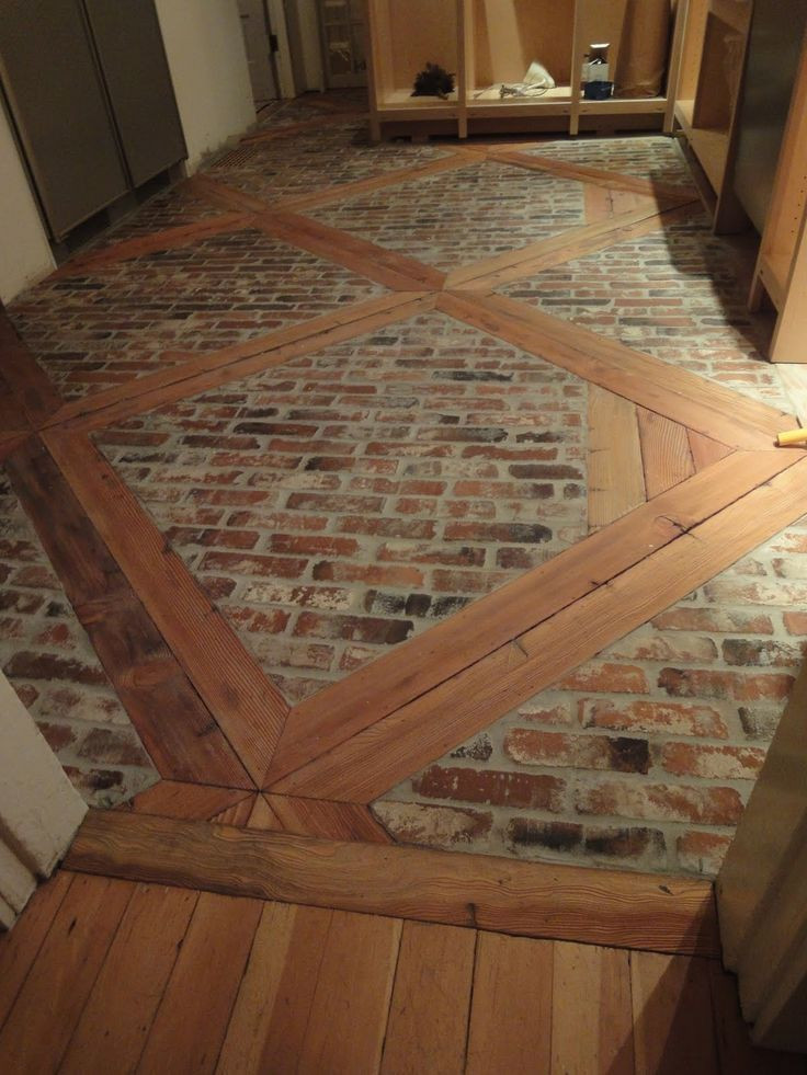 Best ideas about DIY Flooring Options . Save or Pin DIY How to Install this Brick Floor using 2 x 4 s and Now.