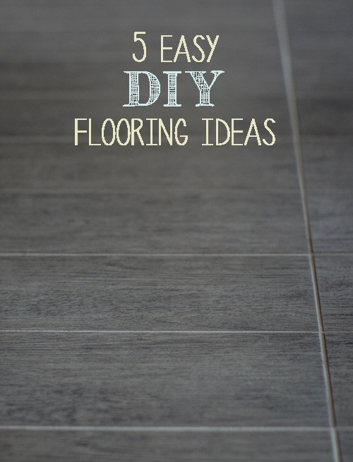 Best ideas about DIY Flooring Options . Save or Pin 5 Easy DIY Flooring Ideas Painted Furniture Ideas Now.