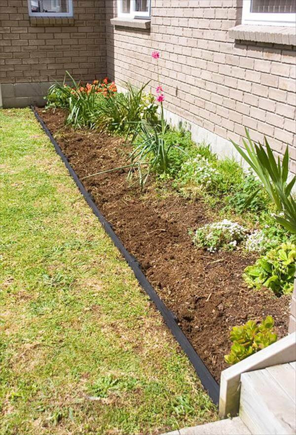Best ideas about DIY Flower Bed Borders . Save or Pin DIY Pallet Garden Bed Edging Now.