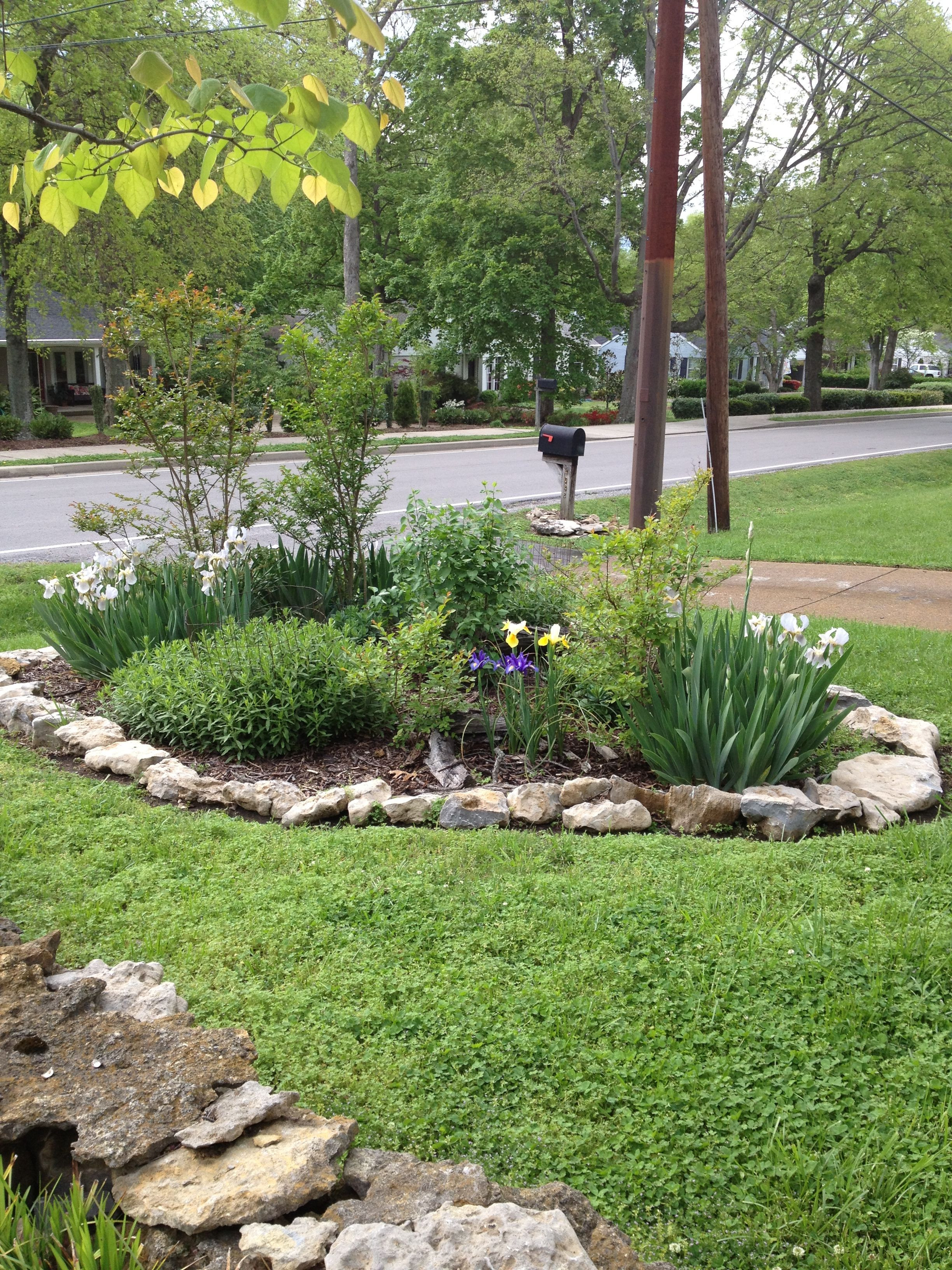 Best ideas about DIY Flower Bed Borders . Save or Pin Island flower garden with rock border diy Now.