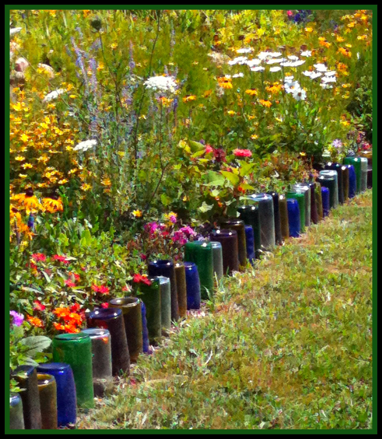 Best ideas about DIY Flower Bed Borders . Save or Pin 1000 images about Recycle Projects & Ideas for the Now.
