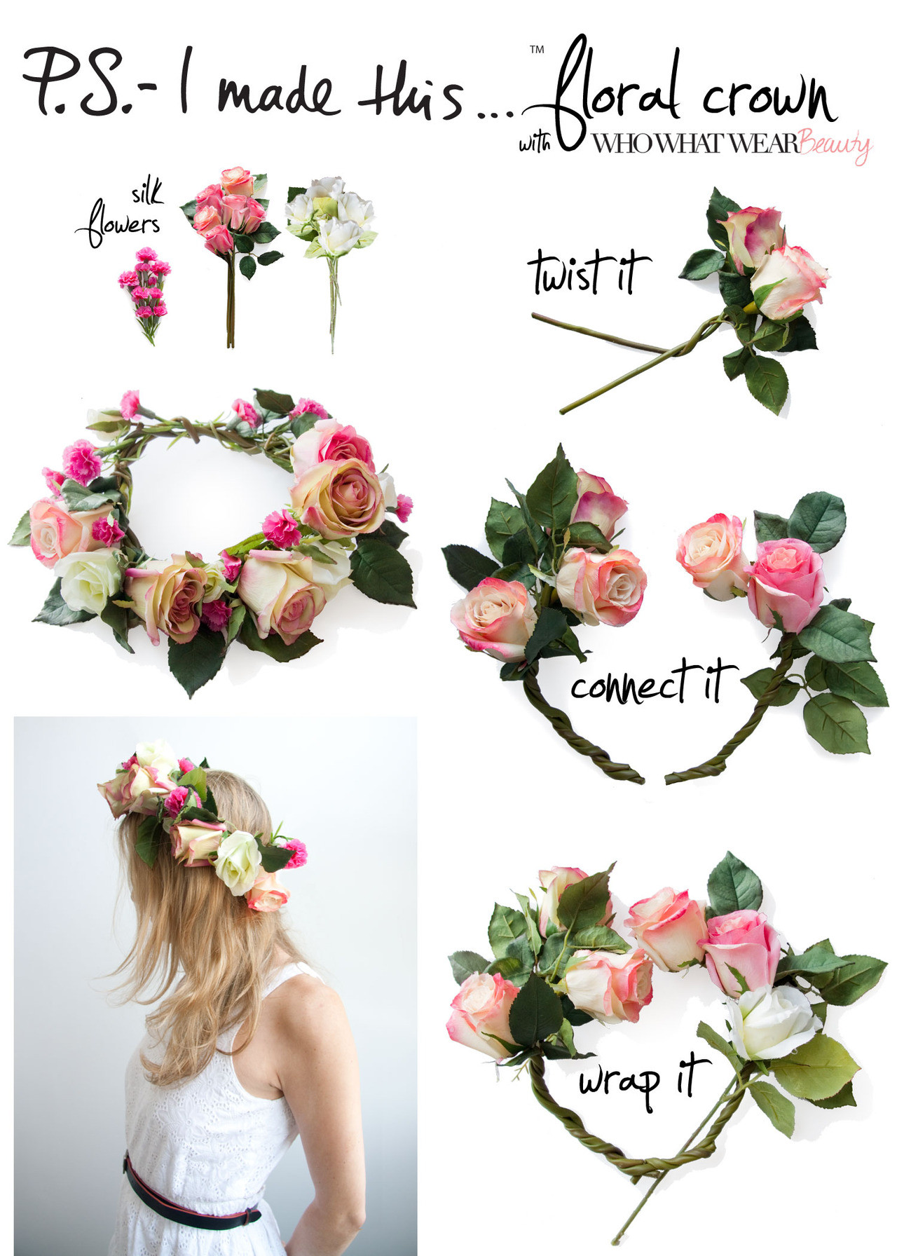 Best ideas about DIY Flower Crown . Save or Pin STYLE Loves DIY Flower Crown Now.