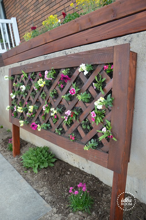 Best ideas about DIY Flower Garden . Save or Pin DIY Vertical Flower Bed The Idea Room Now.