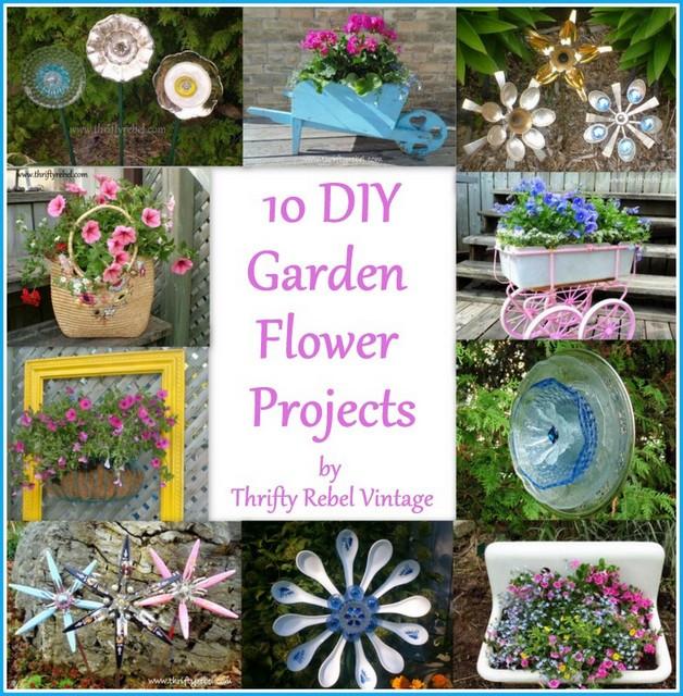 Best ideas about DIY Flower Garden . Save or Pin 10 DIY Garden Flower Projects Thrifty Rebel Vintage Now.