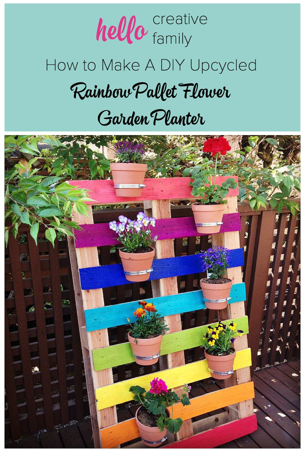 Best ideas about DIY Flower Garden . Save or Pin How to Make A DIY Upcycled Rainbow Pallet Flower Garden Now.