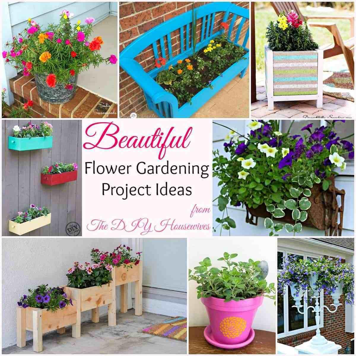 Best ideas about DIY Flower Garden . Save or Pin DIY Flower Gardening Ideas and Planter Projects The DIY Now.