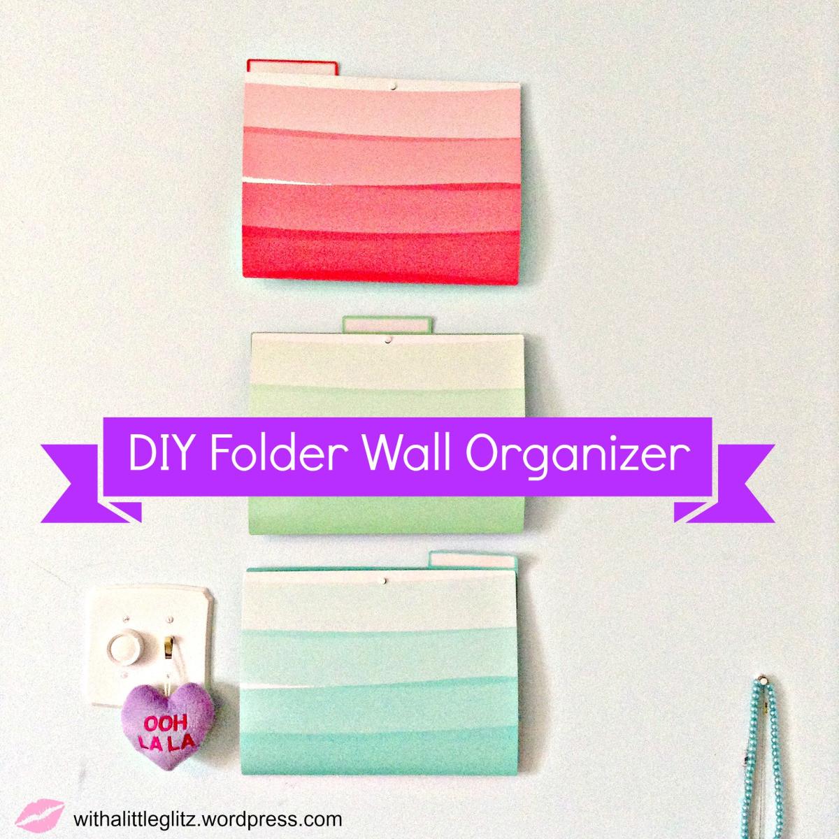 Best ideas about DIY Folder Organizer . Save or Pin Weekend DIY Super Easy Folder Wall Organizer Now.