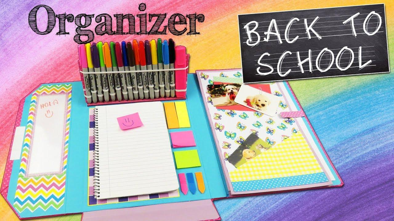 Best ideas about DIY Folder Organizer . Save or Pin DIY FOLDER ORGANIZER BACK TO SCHOOL aPasos Crafts DIY Now.
