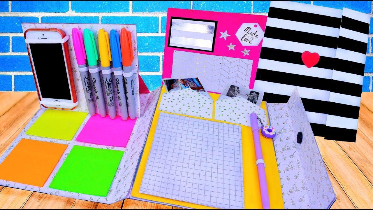 Best ideas about DIY Folder Organizer . Save or Pin DIY COOL FOLDER ORGANIZER NOTEBOOK PLANNER BACK TO Now.