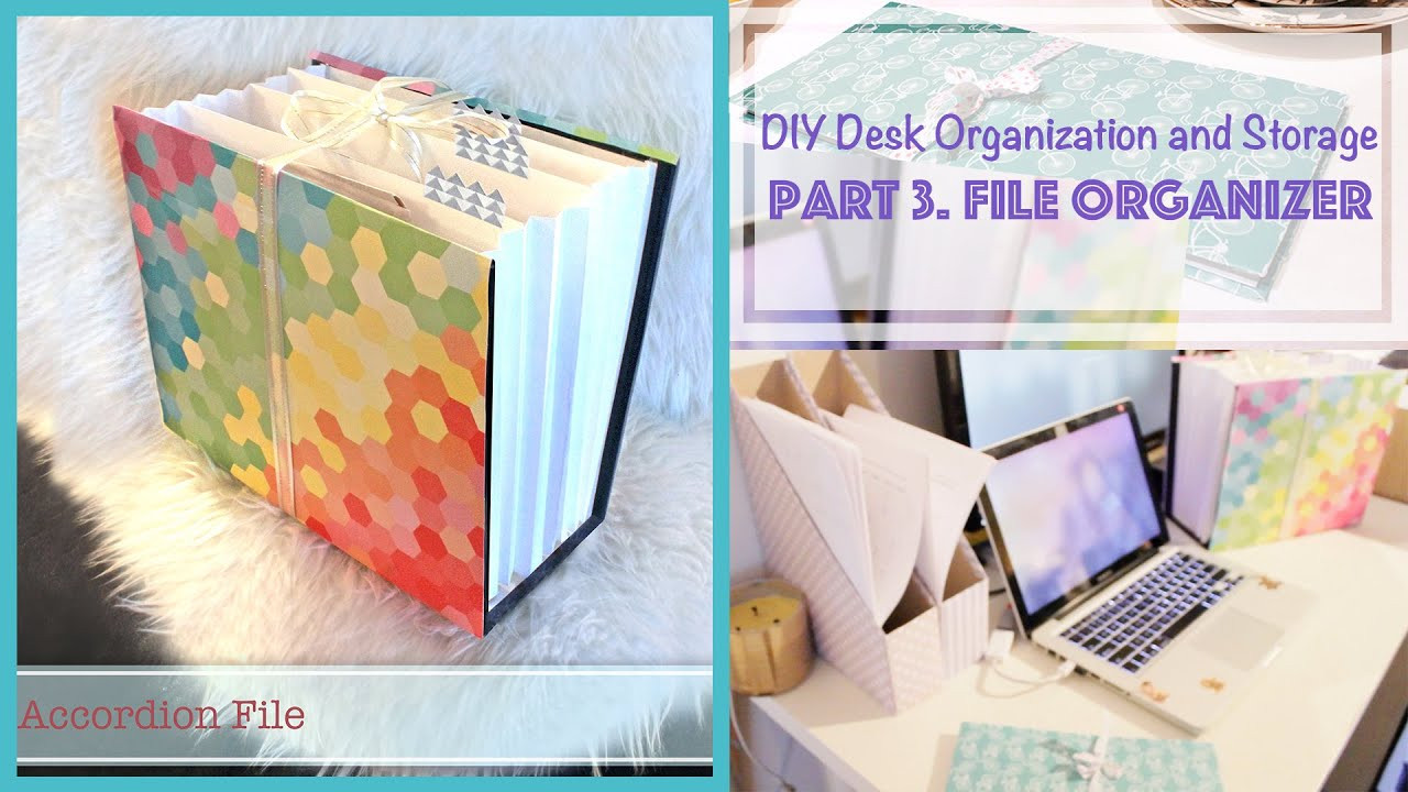 Best ideas about DIY Folder Organizer . Save or Pin DIY File Organizer from Recycled Box Desk Organization Now.