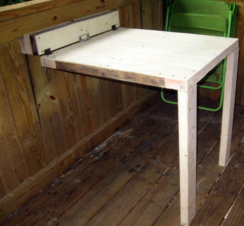 Best ideas about DIY Folding Table . Save or Pin DIY wall mounted folding table Decorating Now.