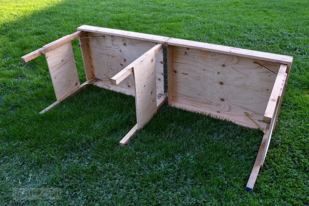 Best ideas about DIY Folding Table . Save or Pin A portable collapsible workbench every DIYer needsFunky Now.