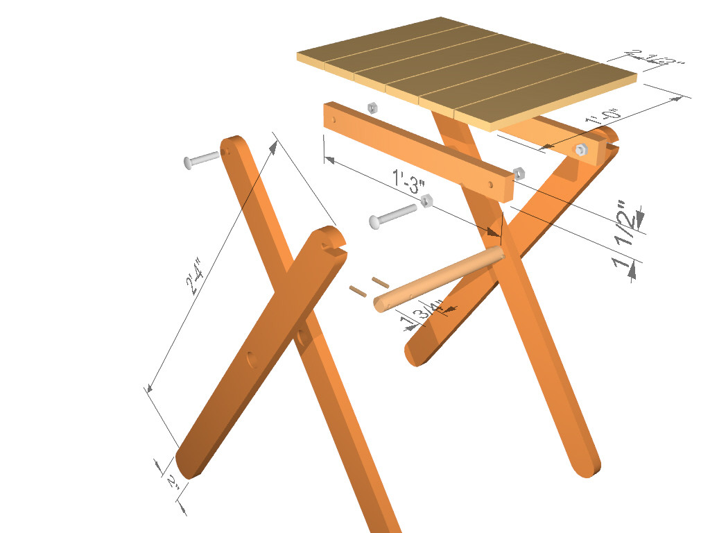 Best ideas about DIY Folding Table . Save or Pin The RunnerDuck Folding Table step by step instructions Now.