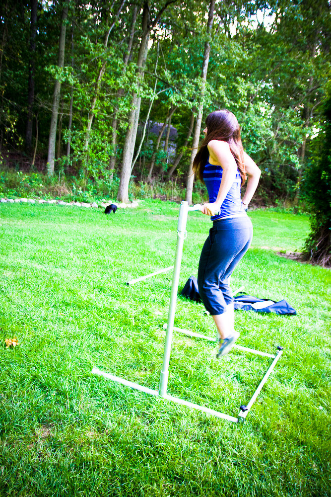 Best ideas about DIY Freestanding Pull Up Bar . Save or Pin free standing portable pullup bar Now.