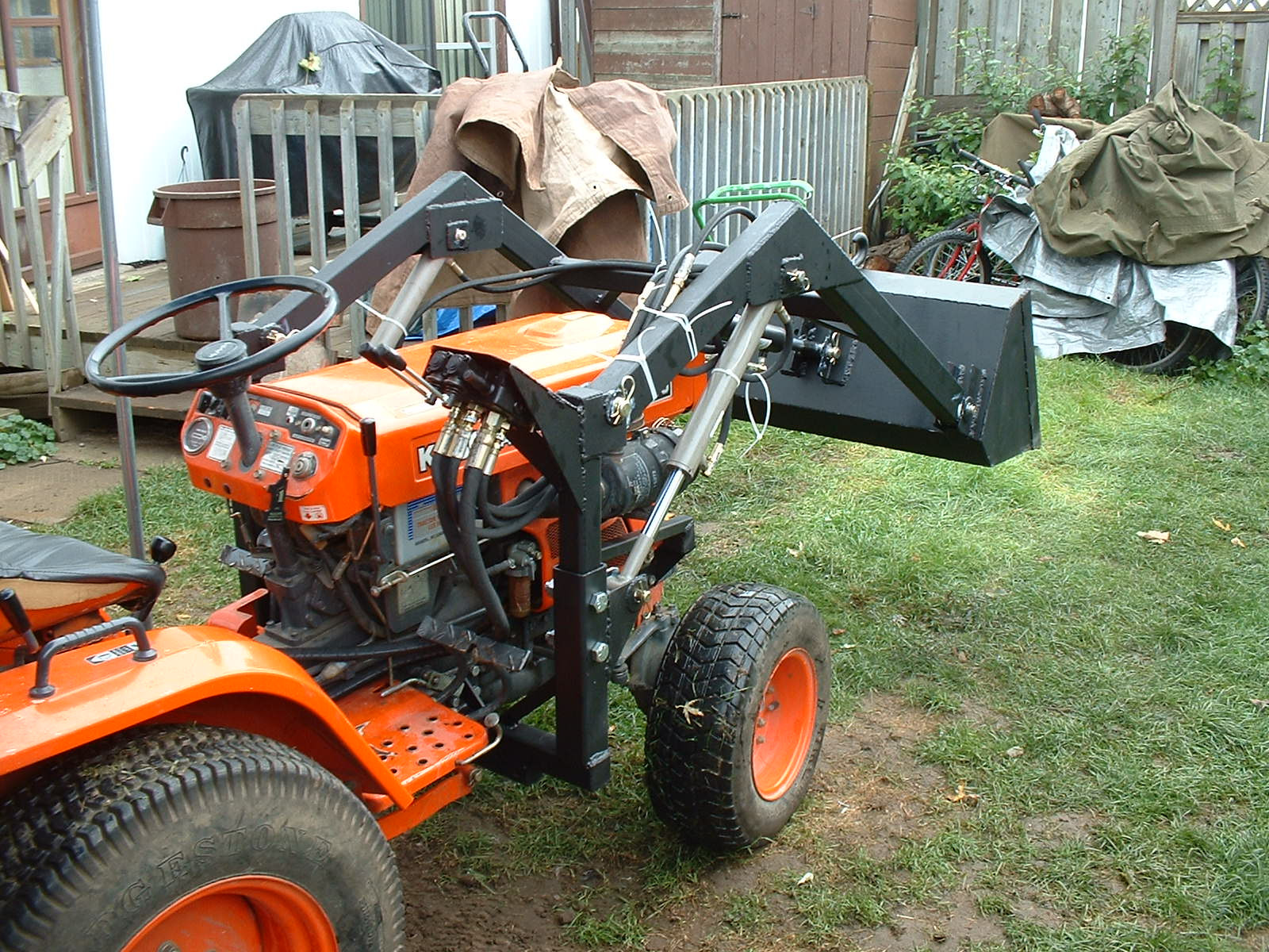 Best ideas about DIY Front End Loader Kit . Save or Pin Diy Garden Tractor Front End Loader Now.