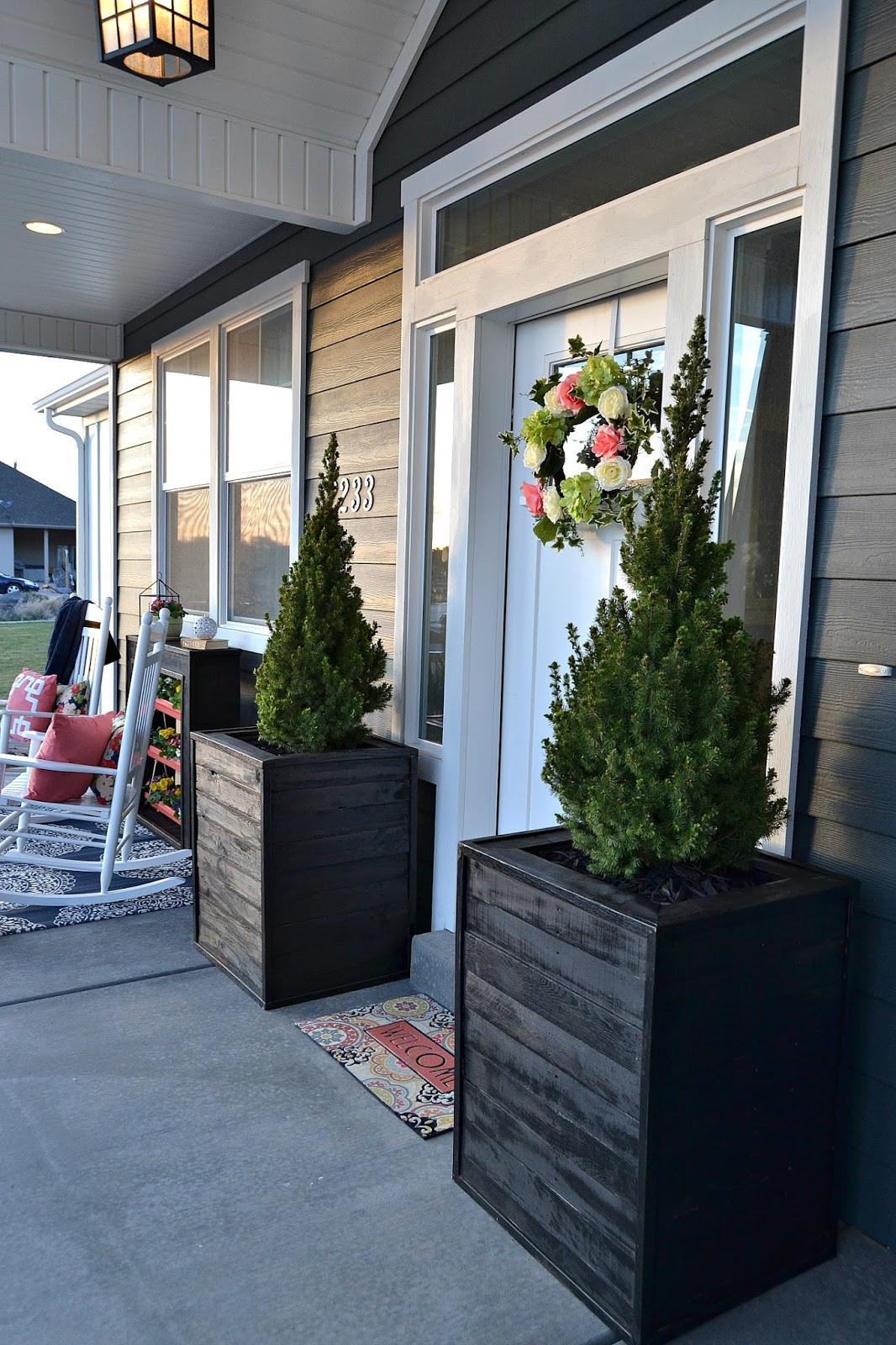 Best ideas about DIY Front Porch . Save or Pin DIY Massive Planter Boxes made from Pallets Lou Lou Girls Now.