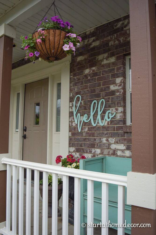 Best ideas about DIY Front Porch . Save or Pin 15 Amazing DIY Wel e Signs for Your Front Porch Style Now.