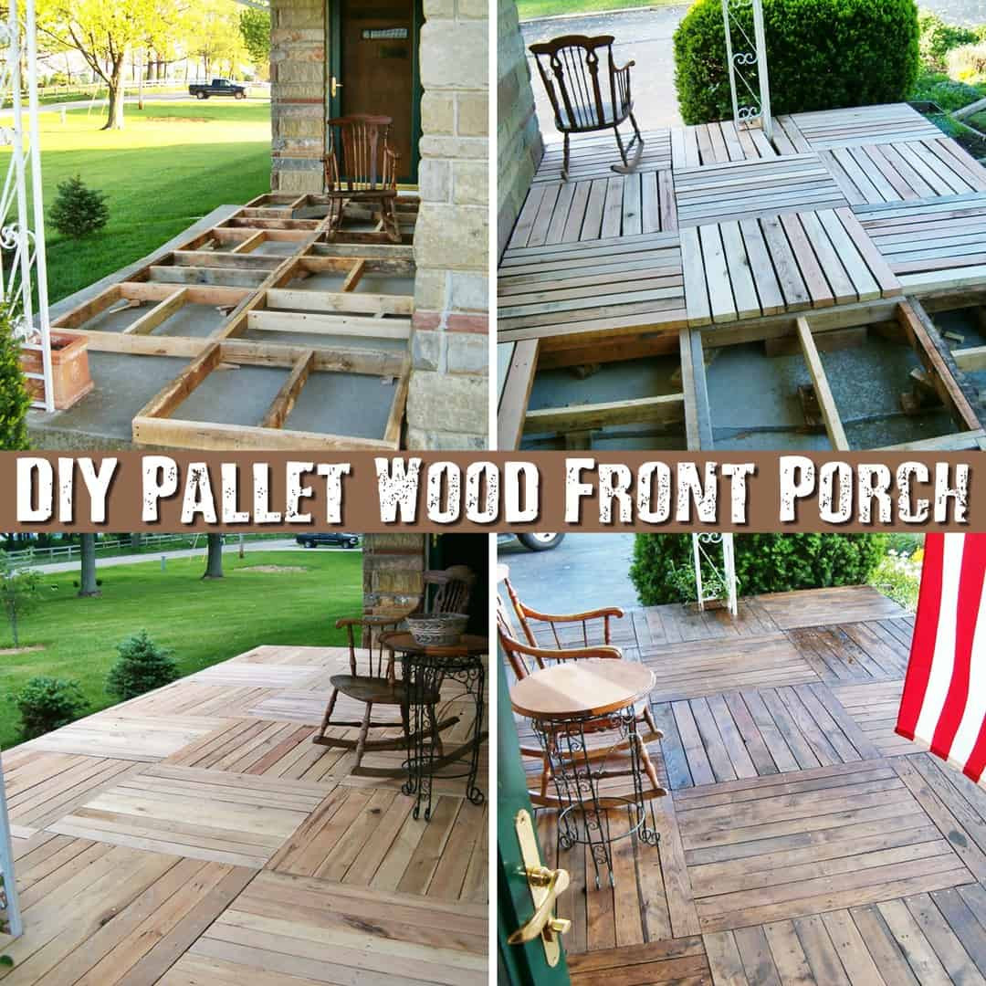 Best ideas about DIY Front Porch . Save or Pin DIY Pallet Wood Front Porch SHTF & Prepping Central Now.