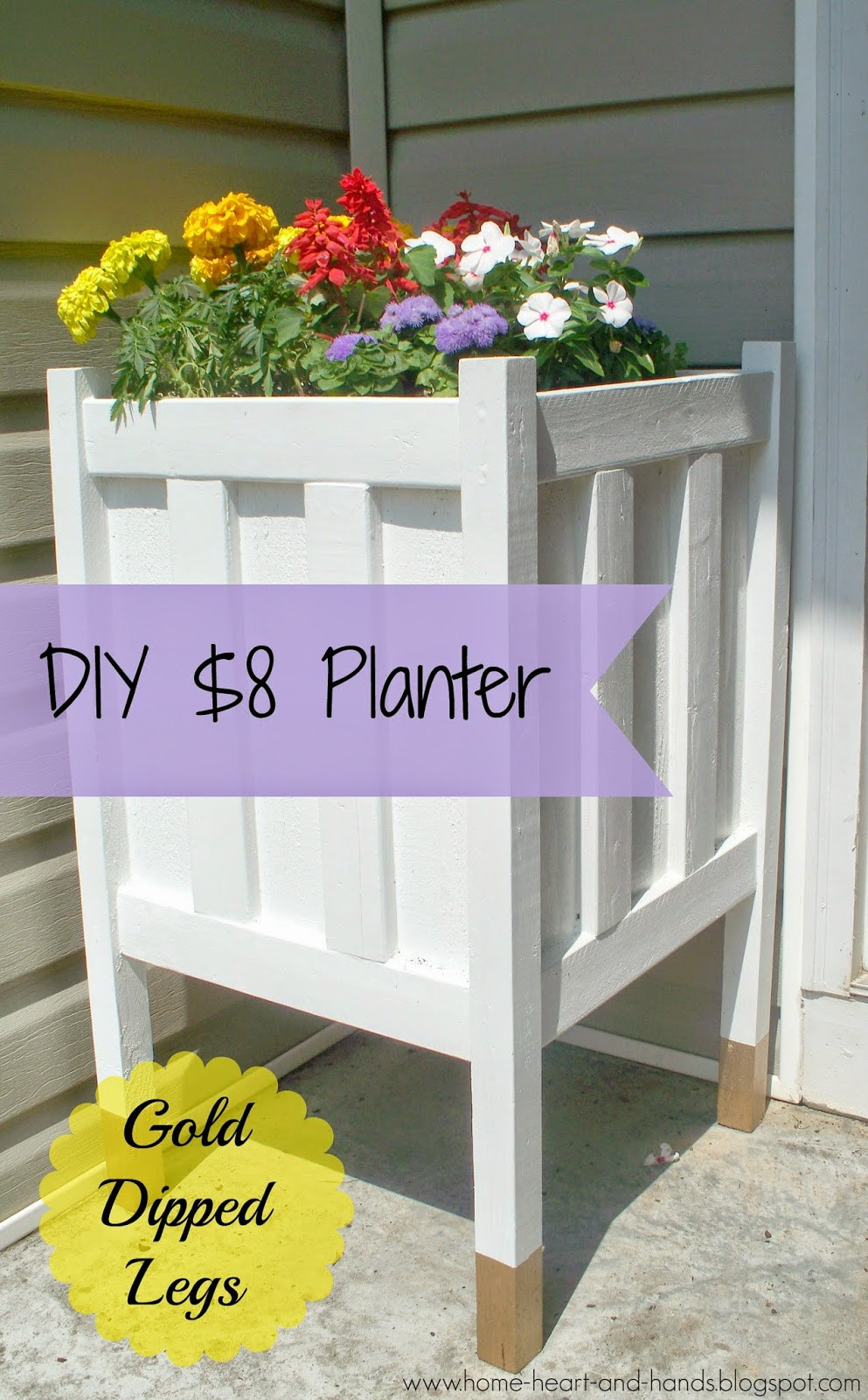 Best ideas about DIY Front Porch . Save or Pin Home Heart and Hands DIY Front Porch Planter With Gold Now.