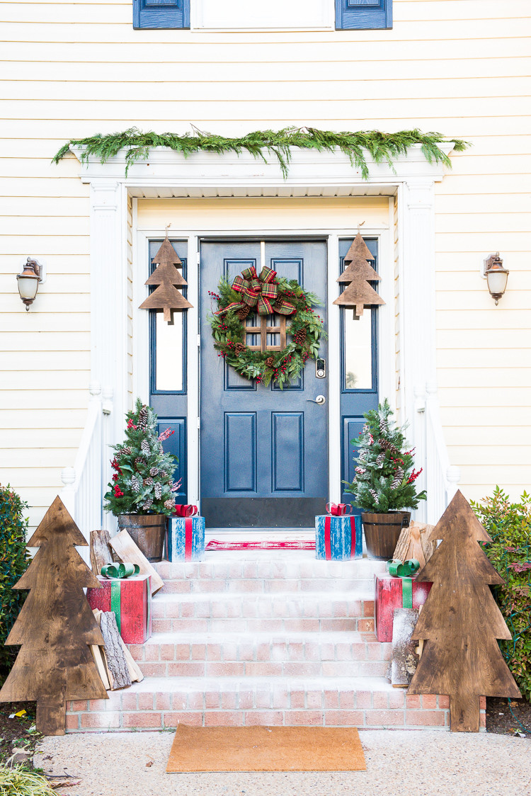 Best ideas about DIY Front Porch . Save or Pin DIY Front Porch Christmas Decor A Wooden Wonderland Now.