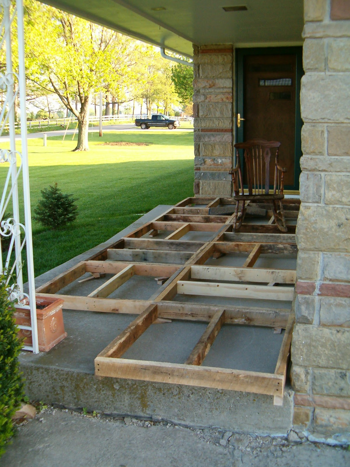 Best ideas about DIY Front Porch . Save or Pin Redo Redux Revisiting Past Projects Pallet Wood Front Porch Now.