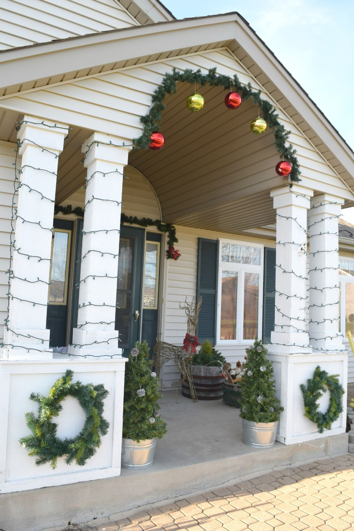 Best ideas about DIY Front Porch . Save or Pin Fashion a DIY Christmas Topiary From A Basic Tomato Cage Now.