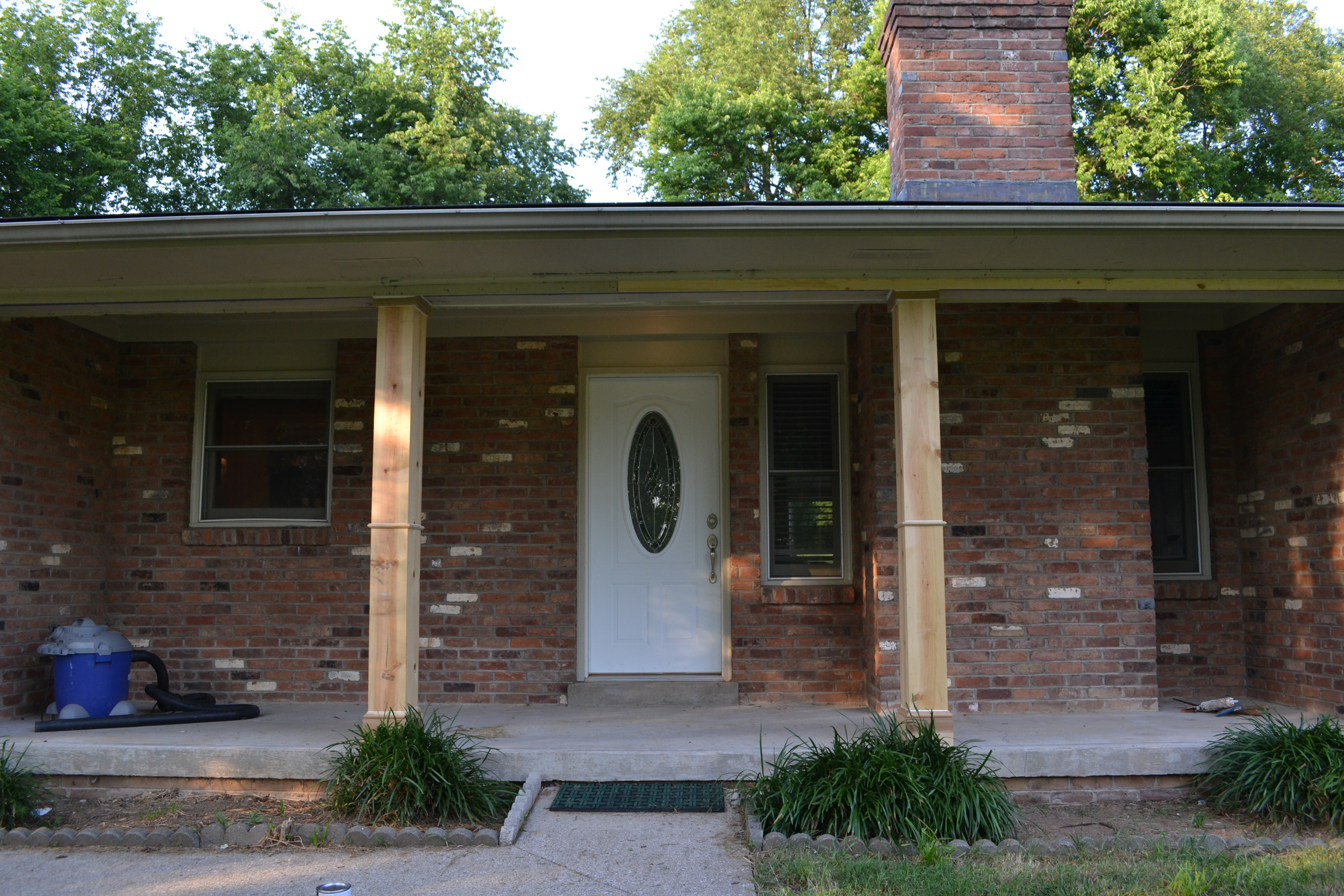 Best ideas about DIY Front Porch . Save or Pin DIY Front Porch Columns Beneath My Heart Now.
