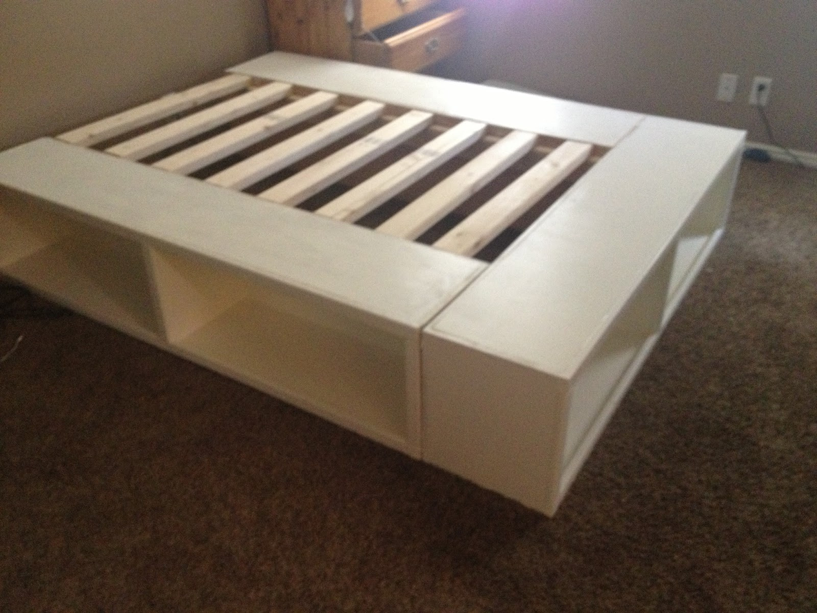 Best ideas about DIY Full Size Bed Frame . Save or Pin DIY Storage Bed Now.
