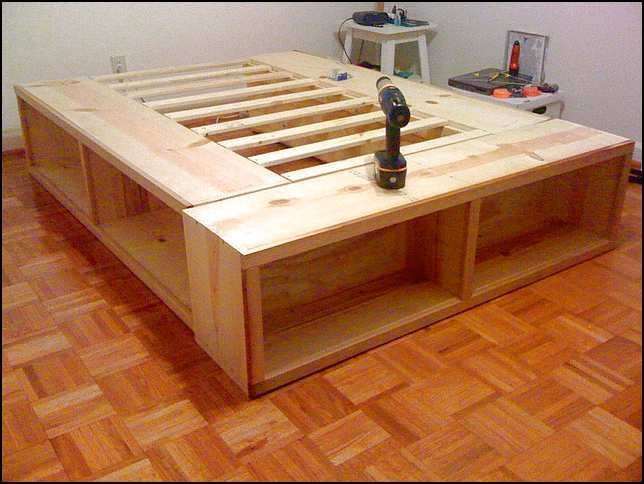 Best ideas about DIY Full Size Bed Frame . Save or Pin Full Size Bed Frame With Storage Plans Woodworking Now.