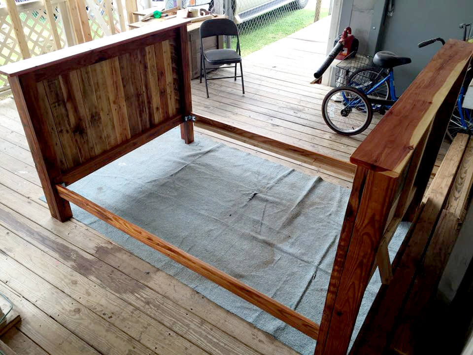 Best ideas about DIY Full Size Bed Frame . Save or Pin Full Size Pallet Bed Frame – 101 Pallets Now.