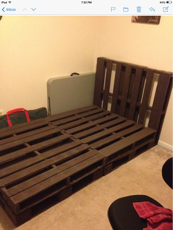 Best ideas about DIY Full Size Bed Frame . Save or Pin 1000 images about Bed DIY on Pinterest Now.