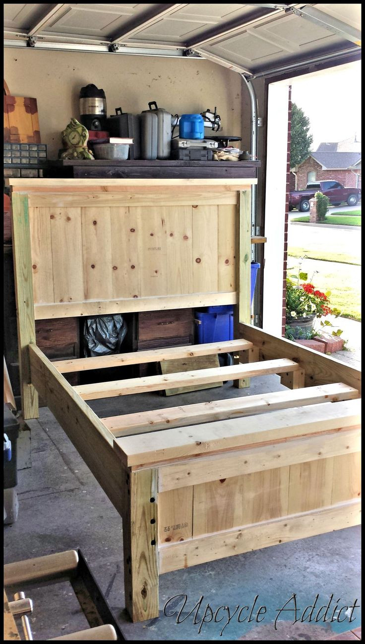 Best ideas about DIY Full Size Bed Frame . Save or Pin How To Build A Queen Size Wood Headboard WoodWorking Now.