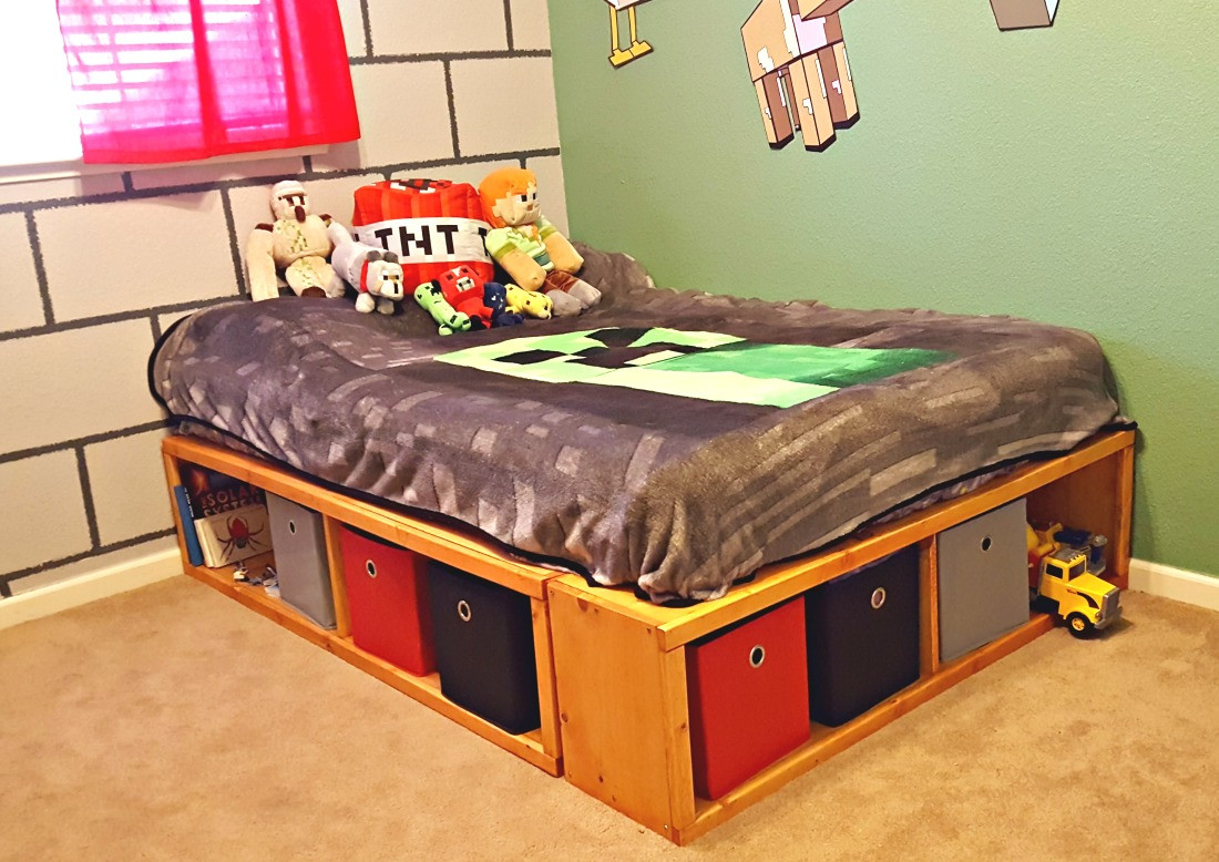 Best ideas about DIY Full Size Bed Frame . Save or Pin DIY Full Size Bed Frame with Storage Leap of Faith Crafting Now.