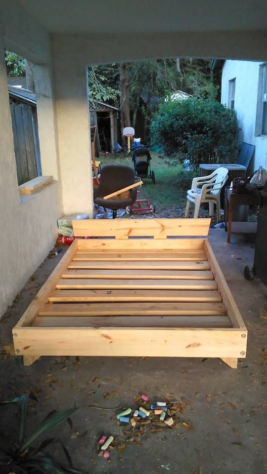 Best ideas about DIY Full Size Bed Frame . Save or Pin 2 X 8 Bed home ideas Now.