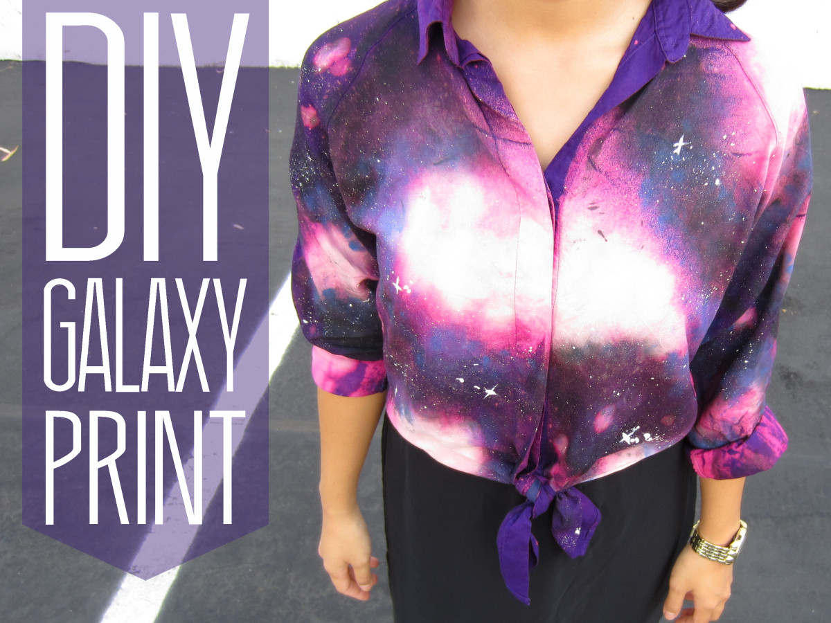 Best ideas about DIY Galaxy Shirts . Save or Pin DIY Galaxy Print Blouse Now.