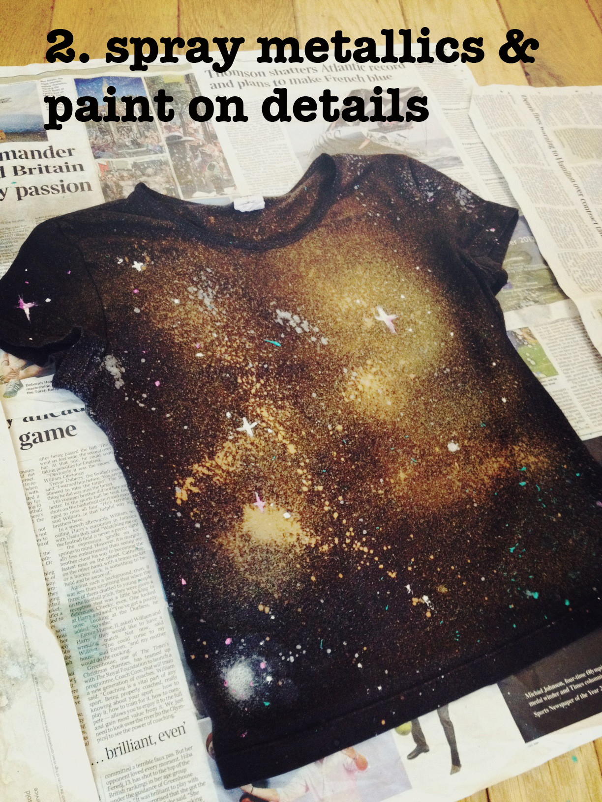 Best ideas about DIY Galaxy Shirts . Save or Pin DIY Galaxy print t shirt – By Hand London Now.