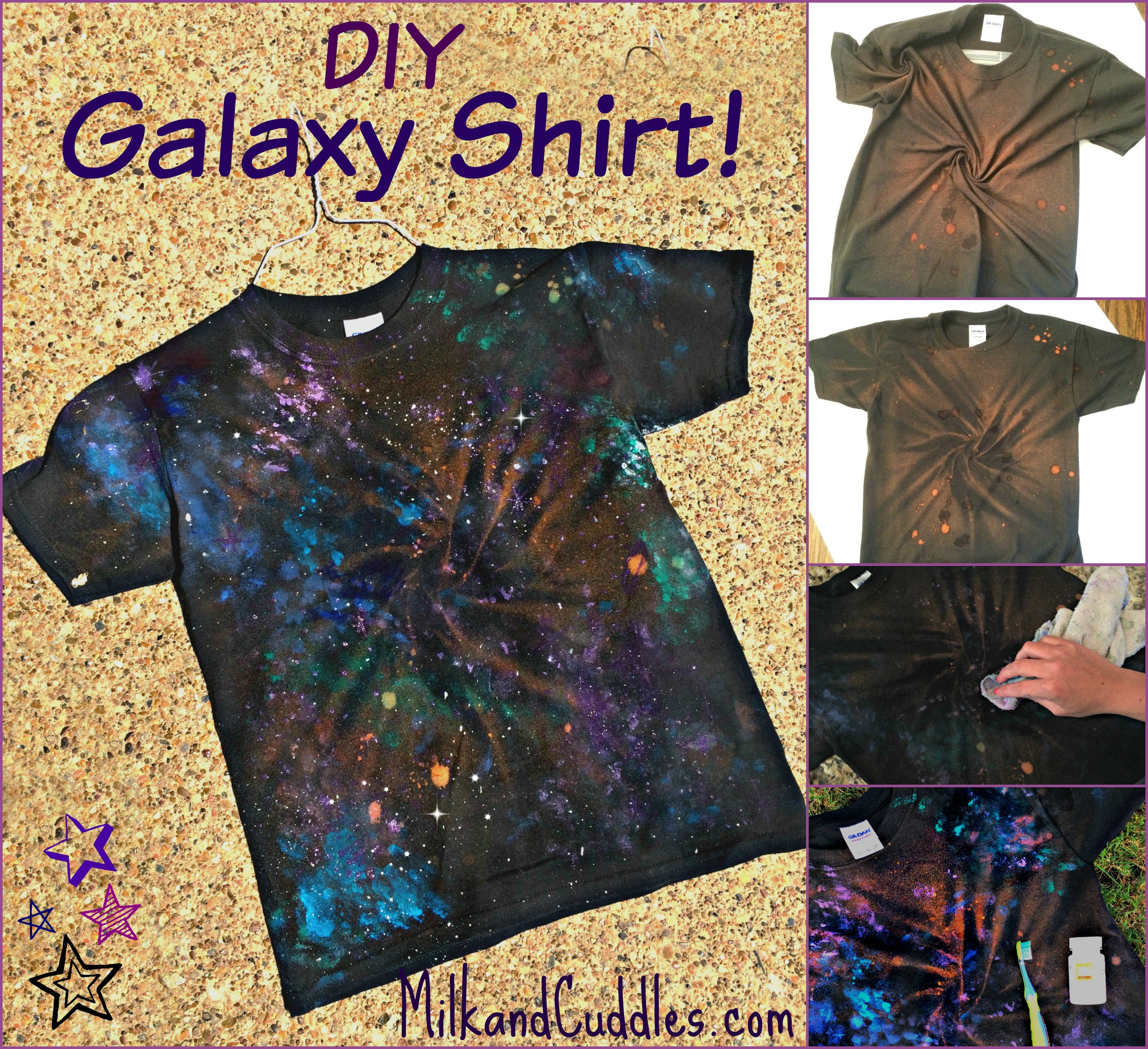Best ideas about DIY Galaxy Shirts . Save or Pin How to make a Galaxy Shirt a Dr Who Star Wars craft Now.