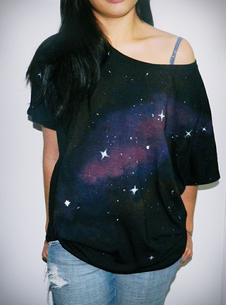 Best ideas about DIY Galaxy Shirts . Save or Pin DIY GALAXY T SHIRT Now.