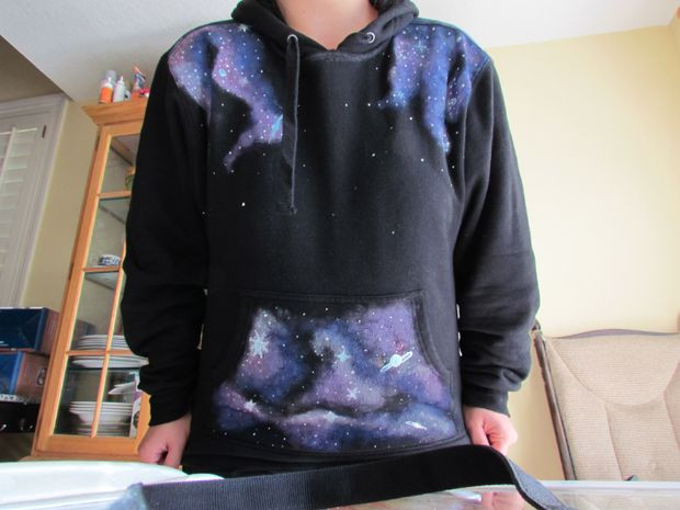 """Best ideas about DIY Galaxy Shirts . Save or Pin DIY """"Galaxy"""" Sweatshirts anything you want to """"SPACE ify"""" Now."""