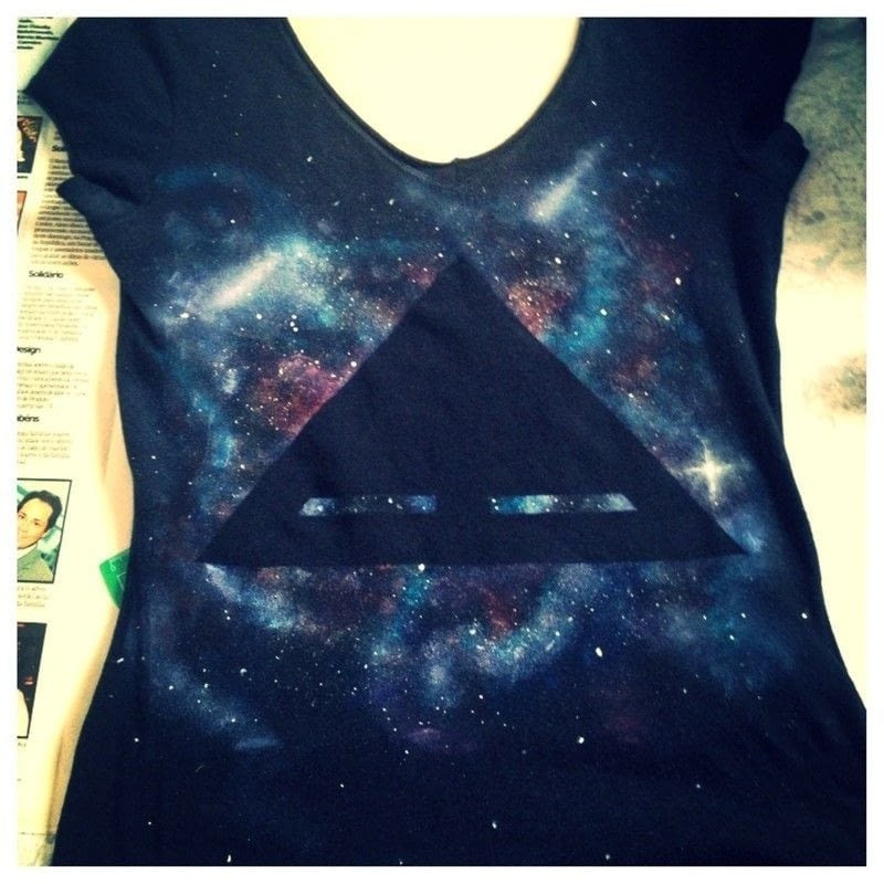 Best ideas about DIY Galaxy Shirts . Save or Pin Galaxy T Shirt 2 · How To Paint A T Shirt · Home DIY on Now.